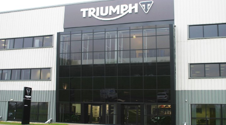 Triumph signage by service graphics