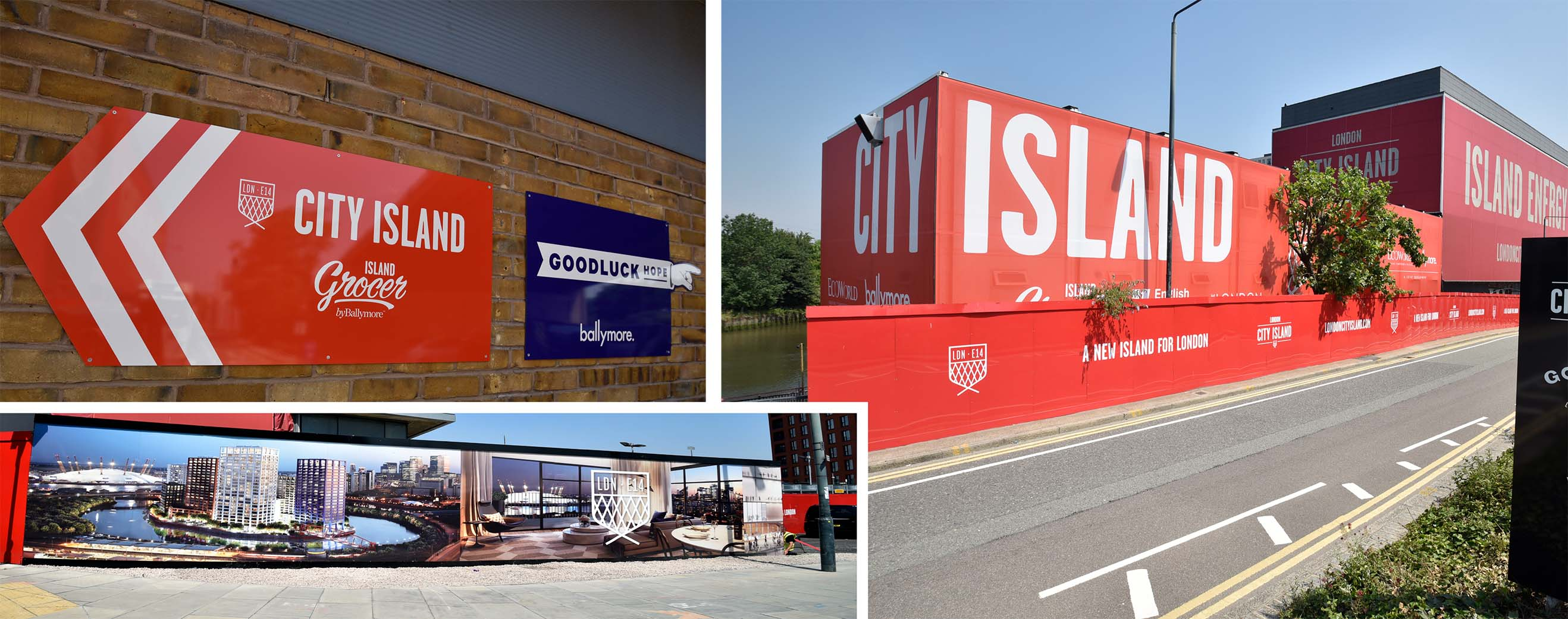 Ballymore Hoarding by Service Graphics