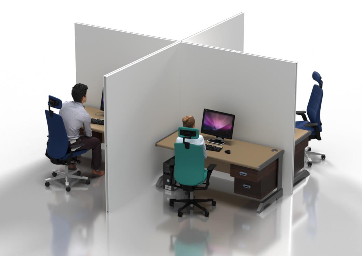 corona desk-partions