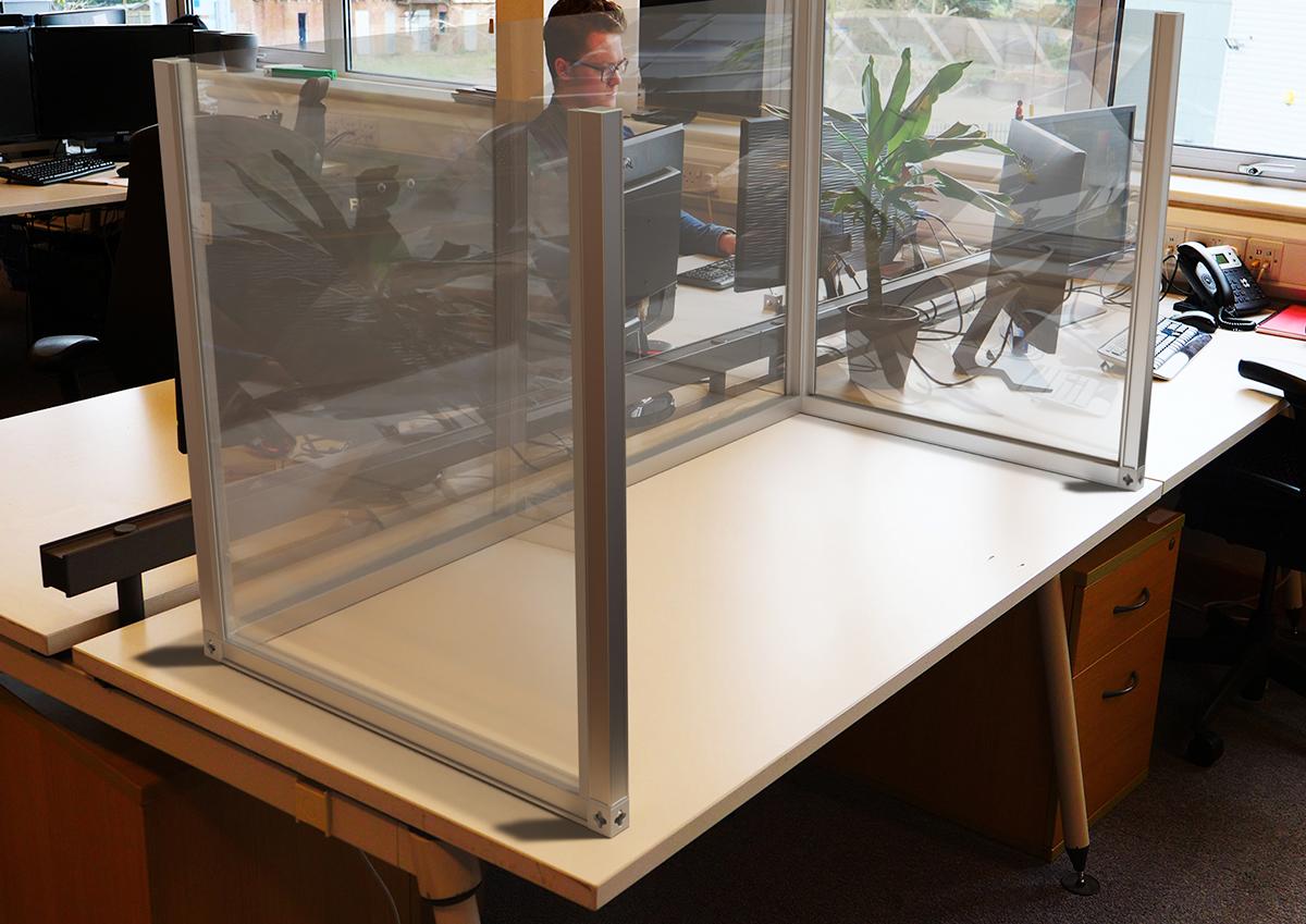 corona sit-on-desk-partition