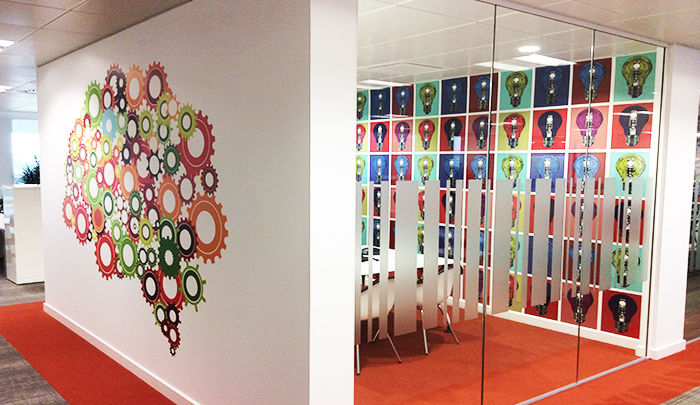 SAS Business Analytics Manifestations and Wall Displays by Service Graphics