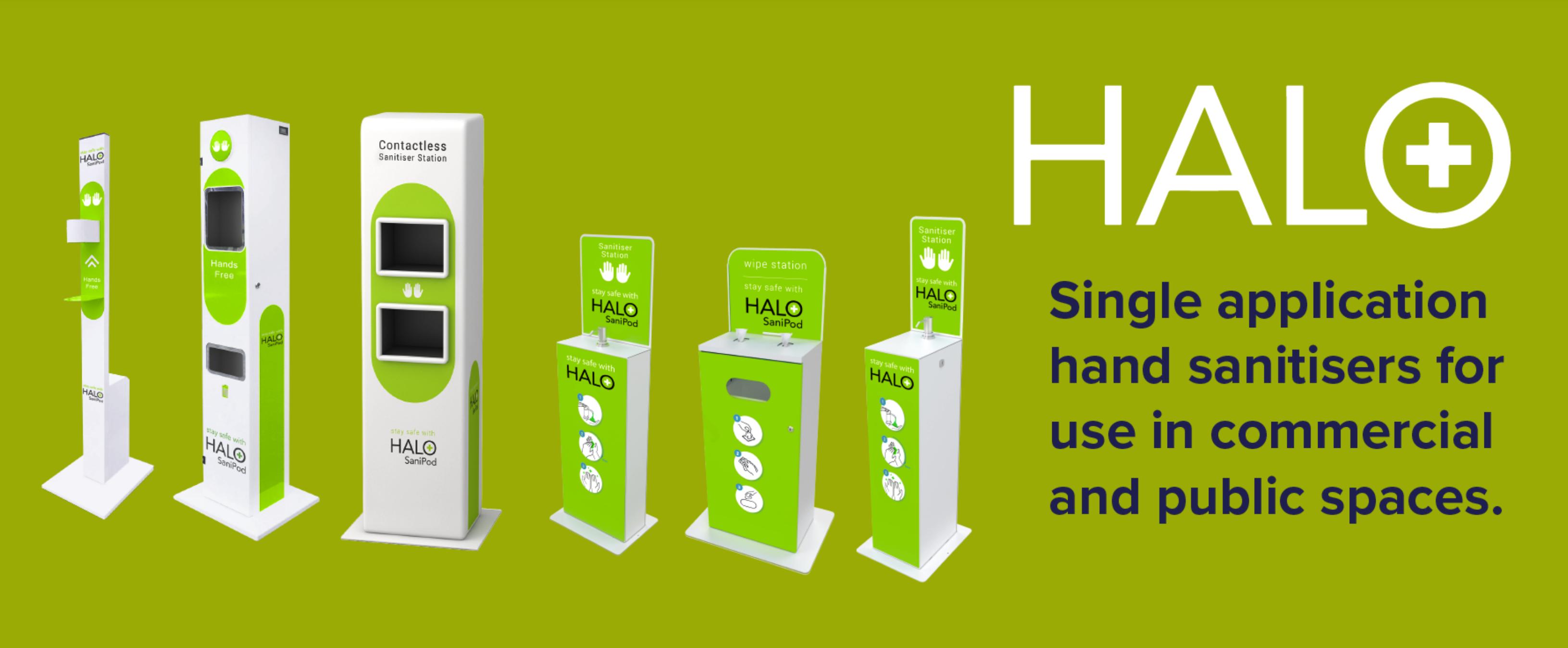 Halo Sanitiser Stations