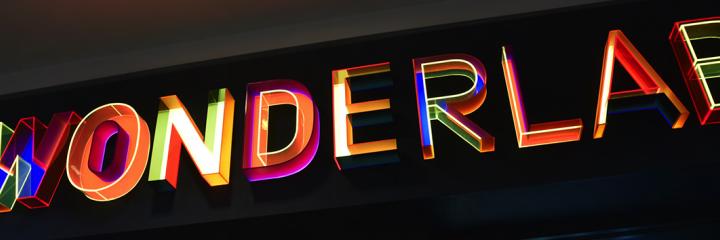 National Science Museum Wonderlab Backlit Sign