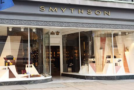 Retail window for Smythson by Service Graphics